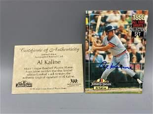 1995 Jimmy Dean Al Kaline Autographed Card