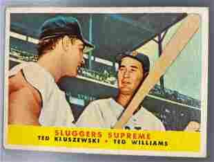 1958 Topps Ted Williams & Ted Kluszewski Sluggers