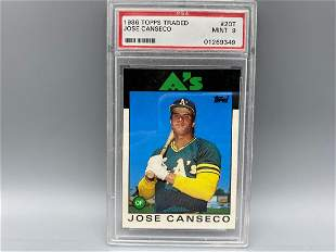 1986 Topps Traded Jose Canseco RC #20 PSA 9