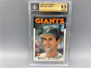 1986 Topps Traded Will Clark RC #24 BGS 9.5