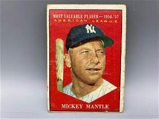 1961 Topps Mickey Mantle MVP #475