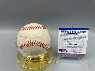 Willie Mays Autographed ONL Baseball with PSA Sticker &