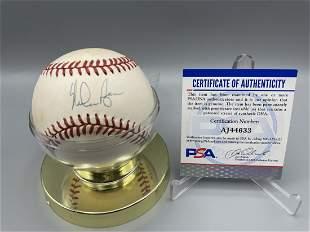 Nolan Ryan Autographed OAL Baseball with PSA Sticker &
