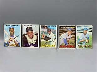 1967 Topps Baseball Lot of 5 Hall Of Famers - Varying