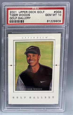 2001 Upper Deck Tiger Woods Golf Gallery Rookie Insert
