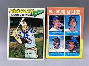 Doug DeCinces Lot - 1975 Topps RC & 1977 Autographed