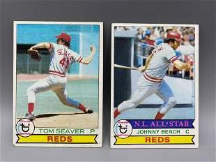 1979 Topps Cincinnati Reds Johnny Bench & Tom Seaver -
