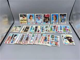 1982 Topps Baseball Lot of 52 Stars & Hall of Famers -