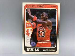 1988-89 Fleer Michael Jordan #17