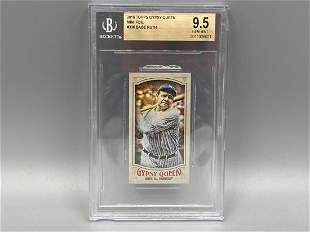 2016 Topps Gypsy Queen Mini Foil Babe Ruth #336 BGS 9.5