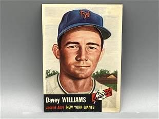 1953 Topps Davey Williams #120 Short Print