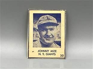 1948 Blue Tint Johnny Mize Rookie - Rare
