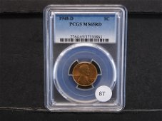 1948-D Lincoln Wheat Cent PCGS MS65RD