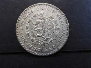 """1962 MEXICO 1 PESO…""""10% SILVER"""""""