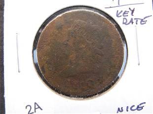 1810 Large 1c. Key Date. Nice Filler.