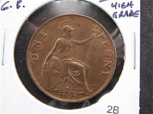1901 Great Britain Penny. High Grade.