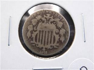 1872 Shield 5c.