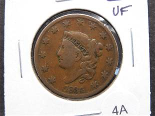 1834 Large 1c. VF.