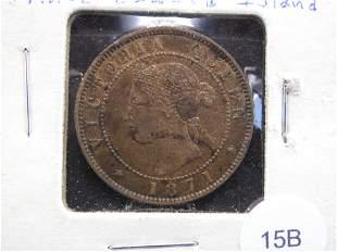 1871 Prince Edward Island 1c. VF.