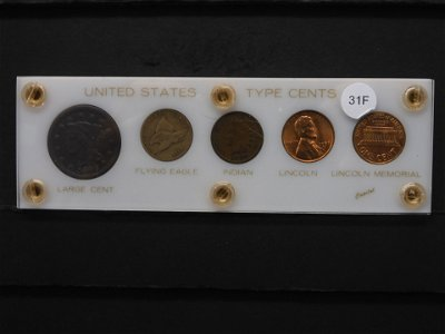 U.S. Type Cents 5 Coin Set.