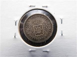 1881 Portuguese India Silver 1/8 Rupia. XF. Rare!