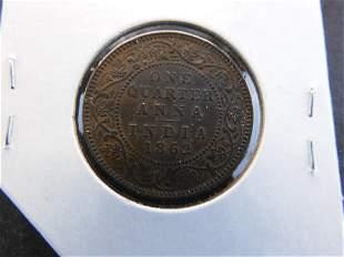 1862 India 1/4 Anna.