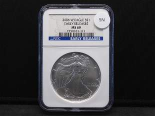 2006-W Early Release Uncirculated Silver American Eagle