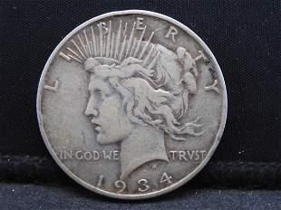 1934-S Key Date Peace Dollar.