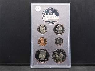 1996-S seven-coin Prestige Proof Set. Contains 90%