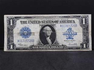 1923 Large Sized Blue Seal Silver Certificate. Serial #
