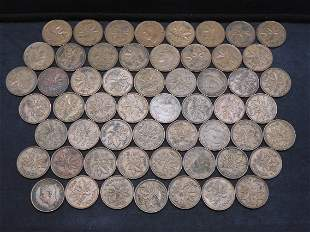 George VI 56 coins 1940 to 1952