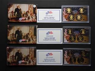 2007-S, 2008-S & 2009-S US Mint Presidential Dollars