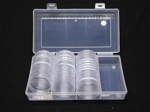Coin Capsules & Plastic container