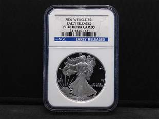 2007-W NGC PF70 Ultra Cameo Early Release American