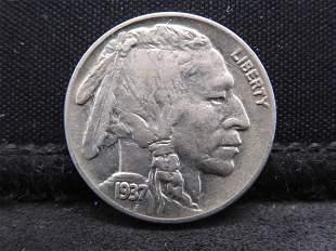 1937 Buffalo Head Indian Nickel - AU/BU Condition