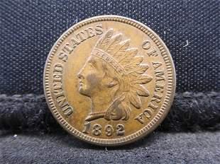 1892 Indian Head Cent - AU/BU Condition