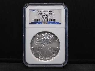 2010 NGC MS70 Early Releases American Silver Eagle -