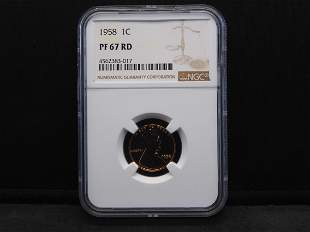 1958 NGC PF67 RD Lincoln Cent - Bright!