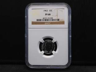 1963 NGC PF68 Roosevelt Silver Dime - Nice & Bright!
