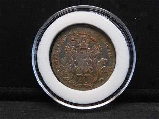 1769 Austria - Habsburg 20 Silver Kreuzer Joseph II
