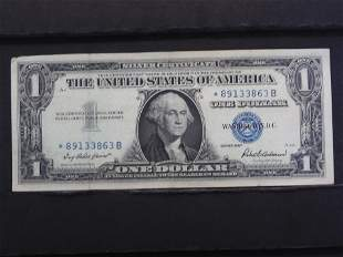 1957 Star Note One Dollar Silver Certificate