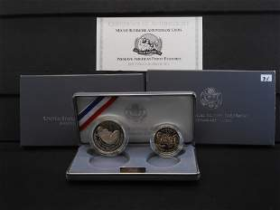 1991-S US Mint Two Coin Proof Set - Mount Rushmore -