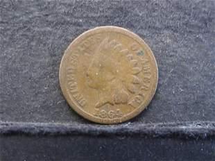 1864 Bronze Indian Head Cent - Better Date