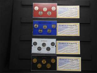 2001 P & D United States Mint State Clad Proof Quarters