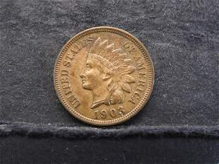 1903 Indian Head Cent - Full Liberty - 4 Diamonds -
