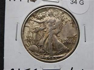 1944-D Walking Liberty Half Dollar - High Grade - TONED