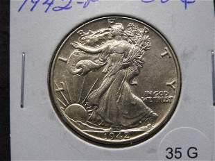 1942-P Walking Liberty Half Dollar - High Grade