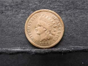 1882 INDIAN (WILD WEST ERA) CENT, 139 YRS OLD!