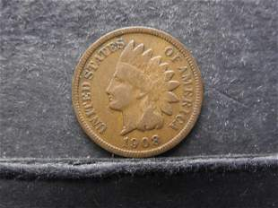 *KEY DATE 1908-S Indian Head Cent - Nice Grade