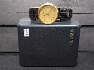 Men's Pulsar Quartz Watch - New Old Stock - Works Great